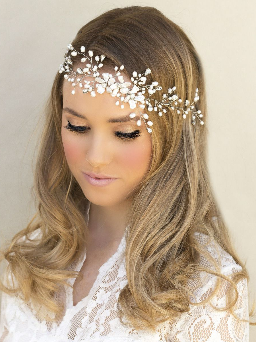 2017 Short Wedding Hairstyles With A Swanky Headband Pertaining To Top 10 Tips For Choosing Your Bridal Hair Accessories (Gallery 1 of 20)