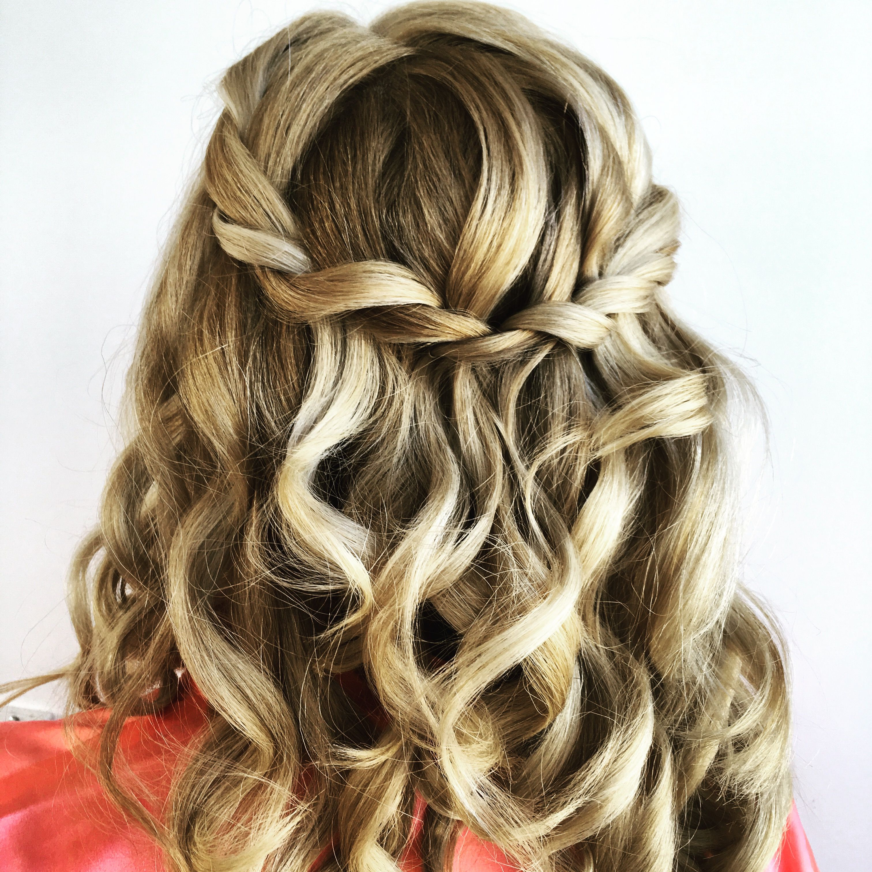 2017 Twists And Curls In Bridal Half Up Bridal Hairstyles Intended For Half Up Twist Curls Updo Bride Bridesmaid Hair Hairstyle Wedding (View 5 of 20)