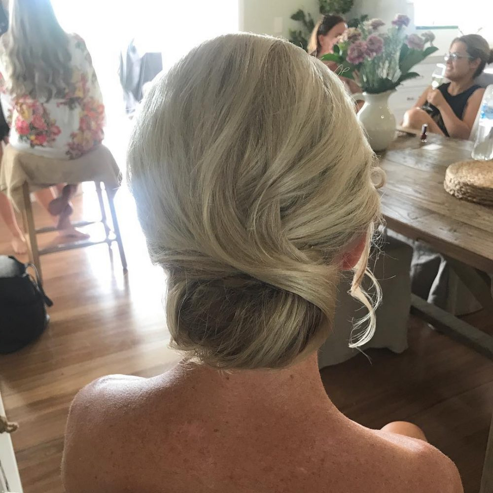 2018 Curly Blonde Updo Hairstyles For Mother Of The Bride Pertaining To Mother Of The Bride Hairstyles: 24 Elegant Looks For (View 20 of 20)