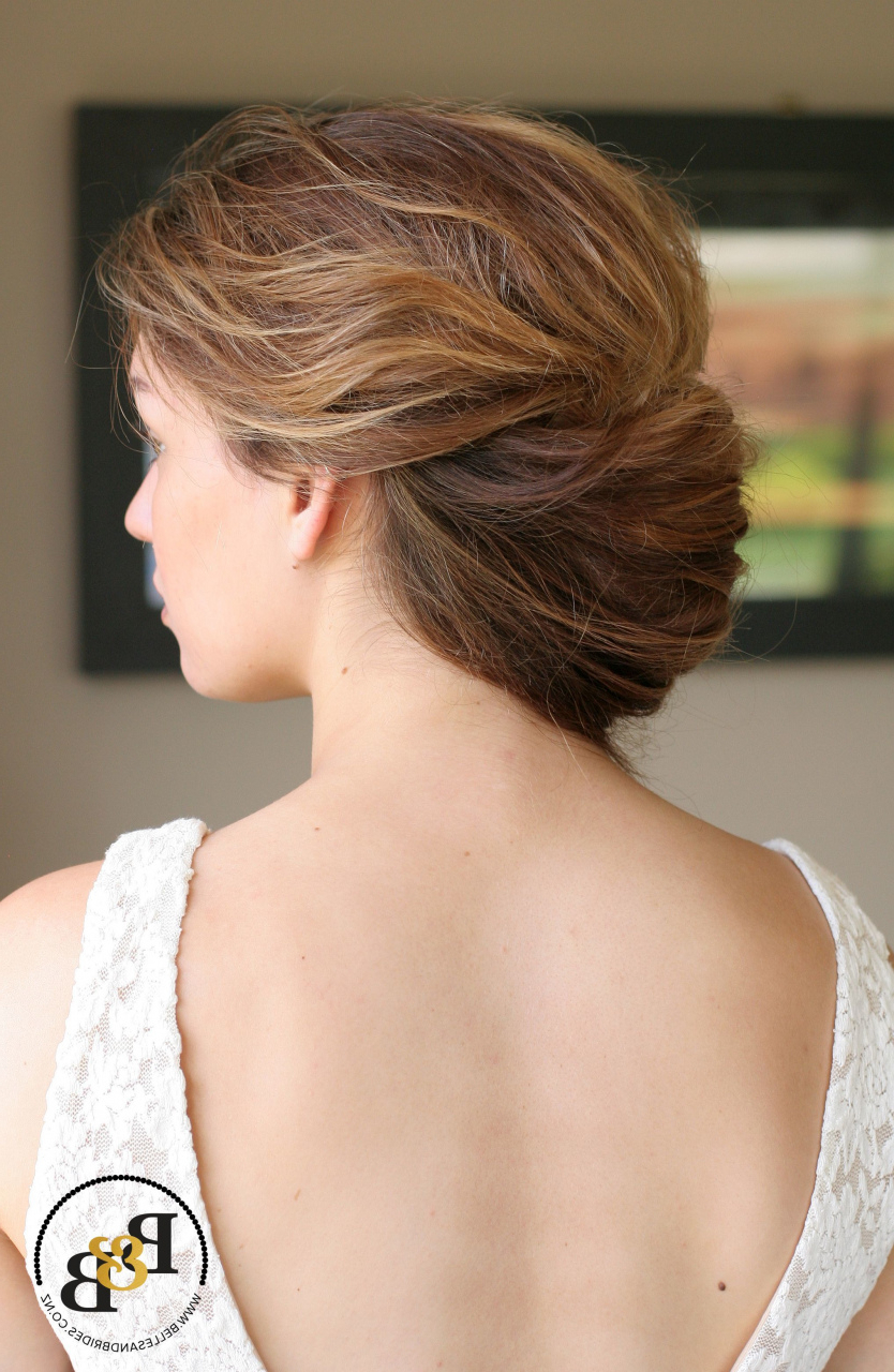 2019 How To Do A French Roll Hairstyle New Messy Modern French Roll Intended For Trendy Messy French Roll Bridal Hairstyles (Gallery 7 of 20)