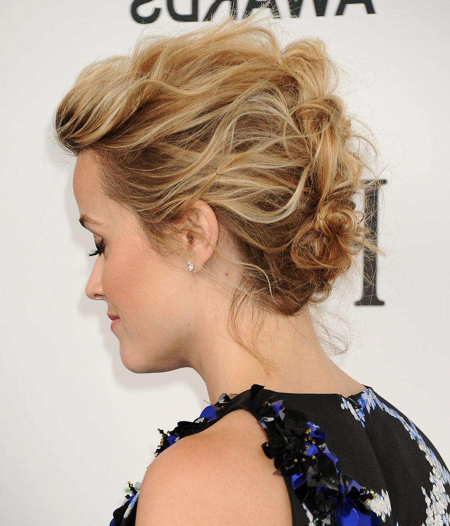 22 Gorgeous Mother Of The Bride Hairstyles Within Recent Curly Blonde Updo Hairstyles For Mother Of The Bride (View 8 of 20)