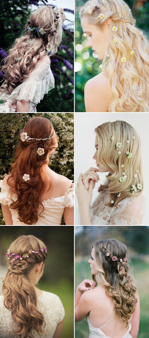 22 Romantic Ways To Wear Fresh Flowers In Your Bridal Hair (View 2 of 20)