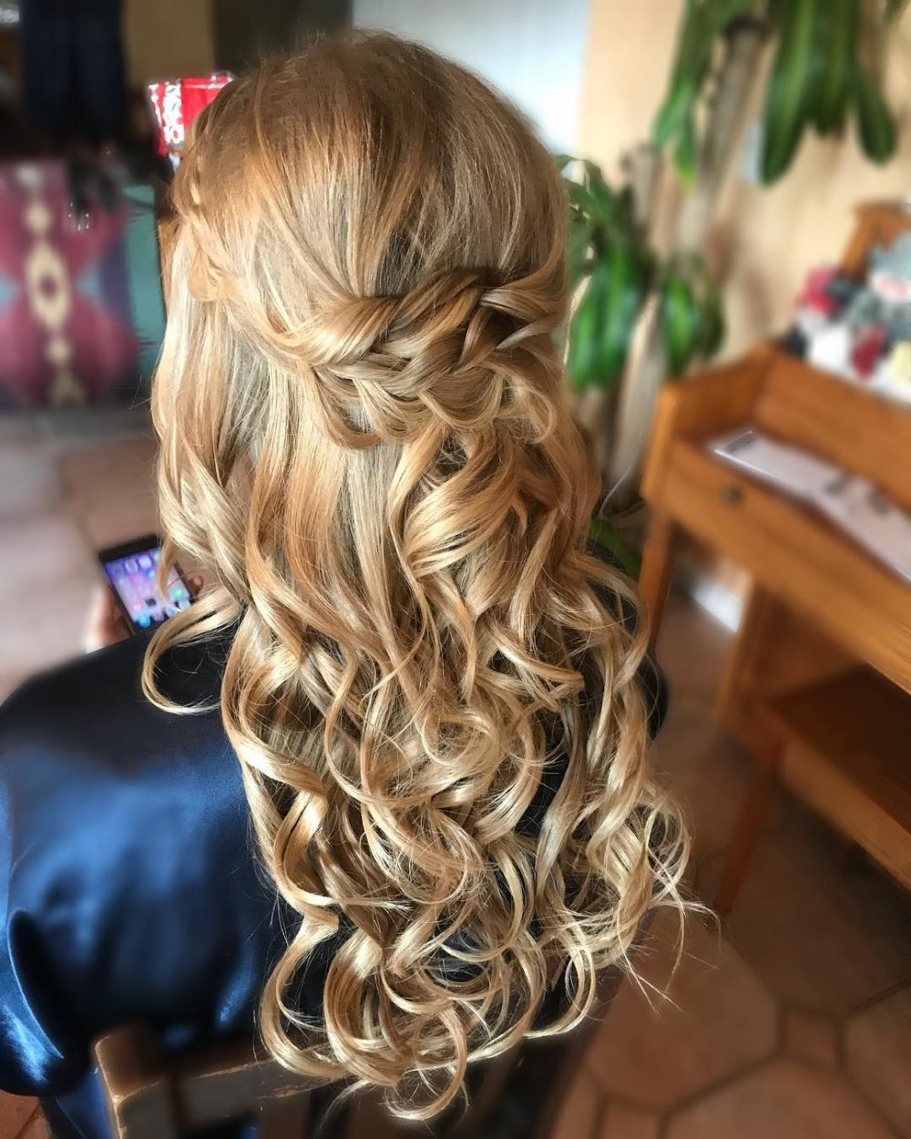 24 Gorgeous Wedding Hairstyles For Long Hair In 2019 In 2018 Bohemian Curls Bridal Hairstyles With Floral Clip (View 2 of 20)