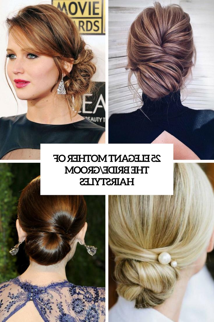 25 Elegant Mother Of The Bride/groom Hairstyles – Weddingomania Regarding Most Popular Low Messy Bun Hairstyles For Mother Of The Bride (View 5 of 20)