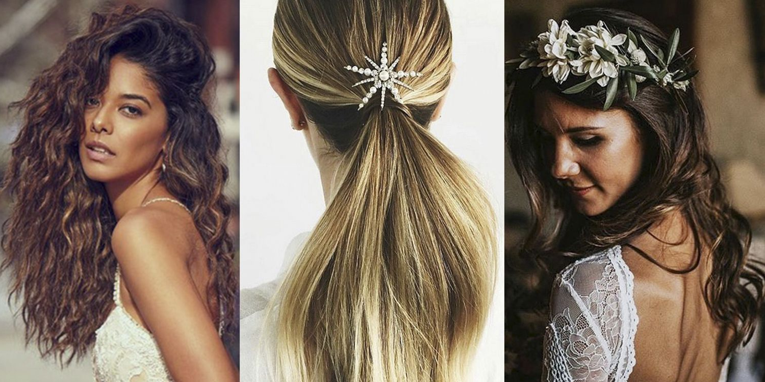 25+ Wedding Hair Ideas 2019 – Instagram's Best Bridal Hairstyles Regarding Widely Used Pile Of Curls Hairstyles For Wedding (Gallery 14 of 20)