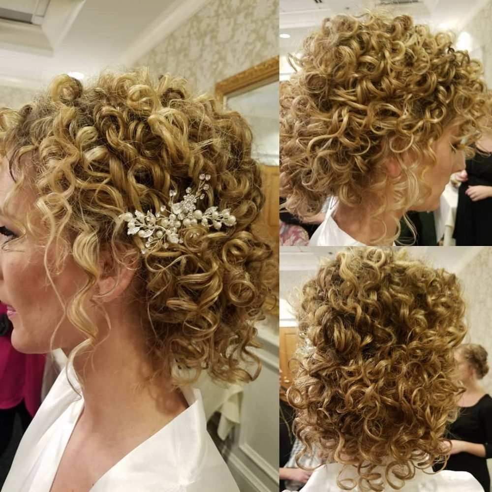 27 Curly Updos For Curly Hair (See These Cute Ideas For 2019) In Latest Formal Curly Updos With Bangs For Wedding (View 5 of 20)