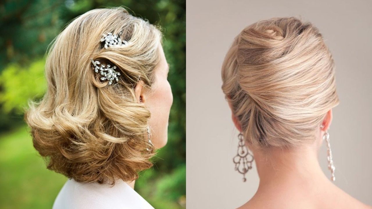 27 Elegant Looking Mother Of The Bride Hairstyles – Haircuts With Regard To Widely Used Tied Back Ombre Curls Bridal Hairstyles (View 5 of 20)