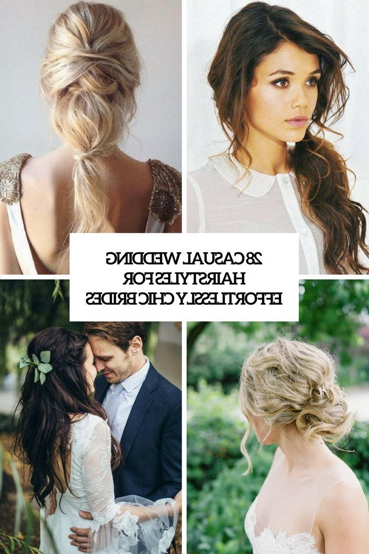 28 Casual Wedding Hairstyles For Effortlessly Chic Brides For Favorite Braided Wedding Hairstyles With Subtle Waves (Gallery 17 of 20)