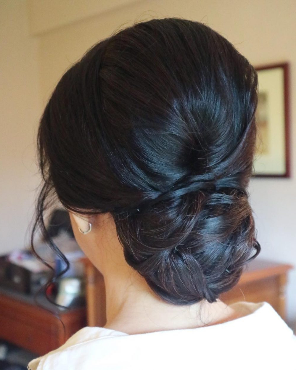 28 Cute & Easy Updos For Long Hair (2019 Trends) In Preferred Bouffant And Chignon Bridal Updos For Long Hair (View 5 of 20)