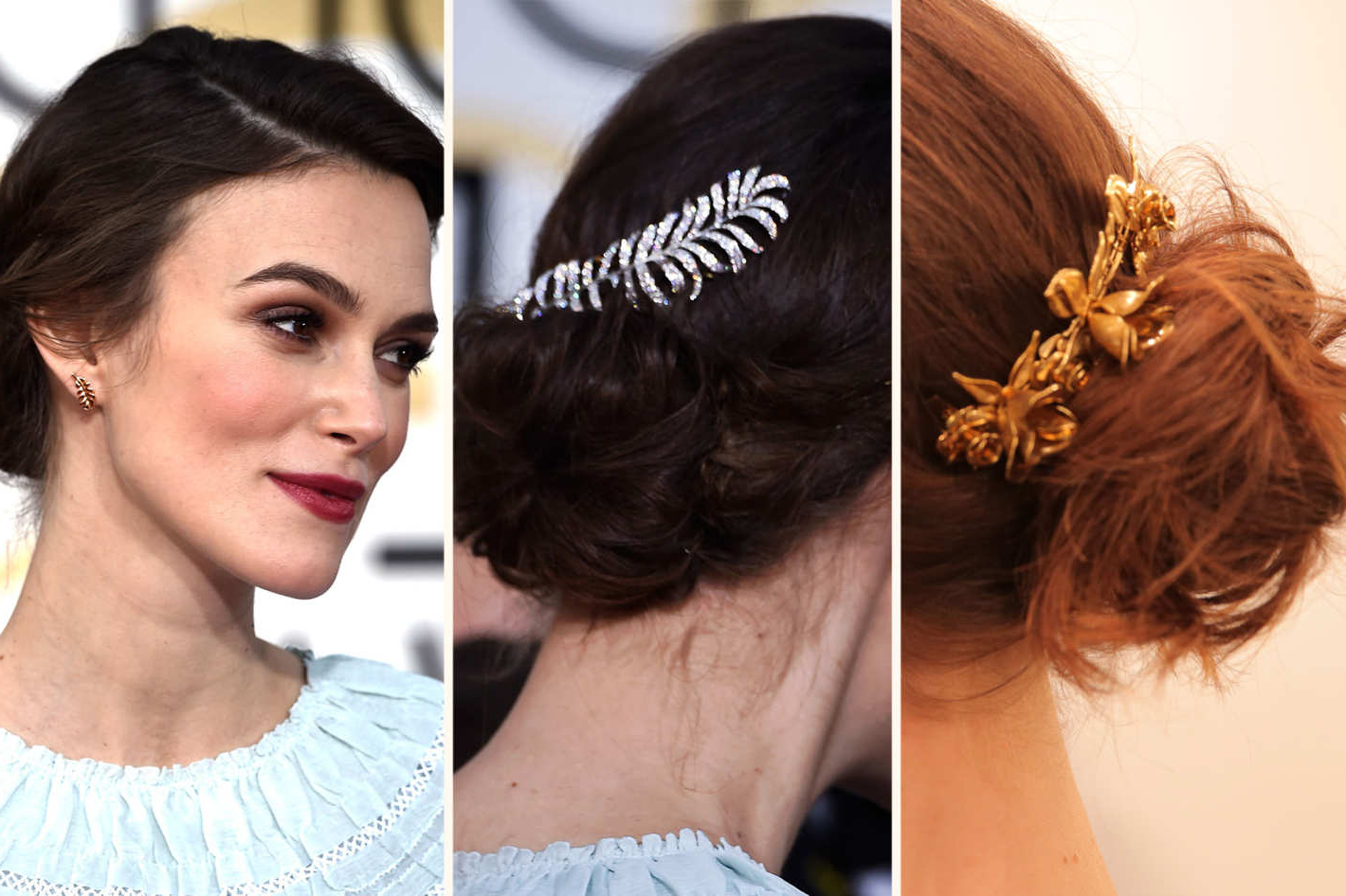 3 Easy, Fancy Ways To Wear A Hair Comb Like Keira Knightley Pertaining To Preferred Curled Side Updo Hairstyles With Hair Jewelry (Gallery 12 of 20)