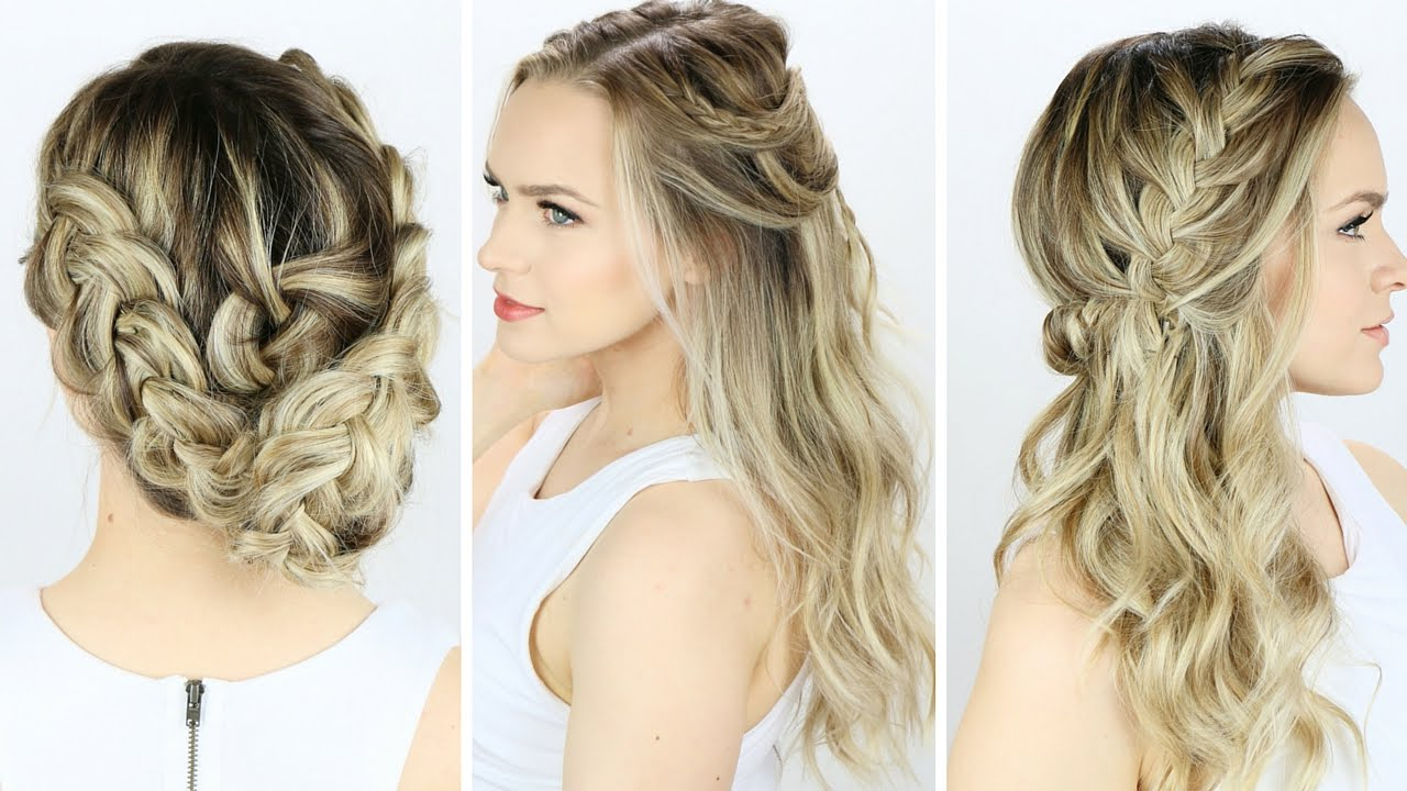 3 Prom Or Wedding Hairstyles You Can Do Yourself! – Youtube With Widely Used Simple And Cute Wedding Hairstyles For Long Hair (Gallery 4 of 20)