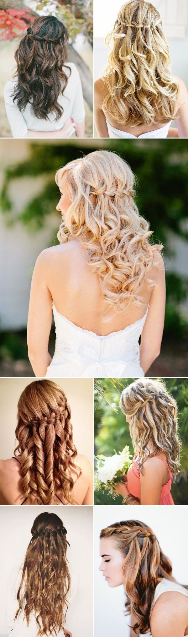 30 Hottest Bridesmaid Hairstyles For Long Hair – Popular Haircuts Regarding Most Recent Wedding Semi Updo Bridal Hairstyles With Braid (View 12 of 20)