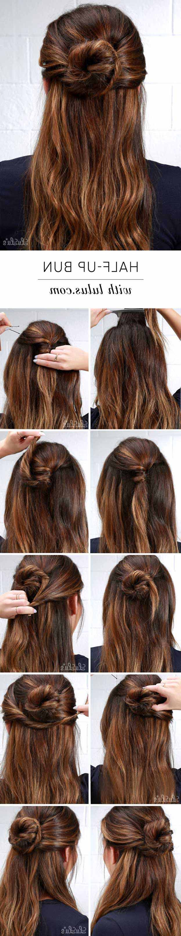 31 Amazing Half Up Half Down Hairstyles For Long Hair – The Goddess Intended For Newest Medium Half Up Half Down Bridal Hairstyles With Fancy Knots (View 2 of 20)