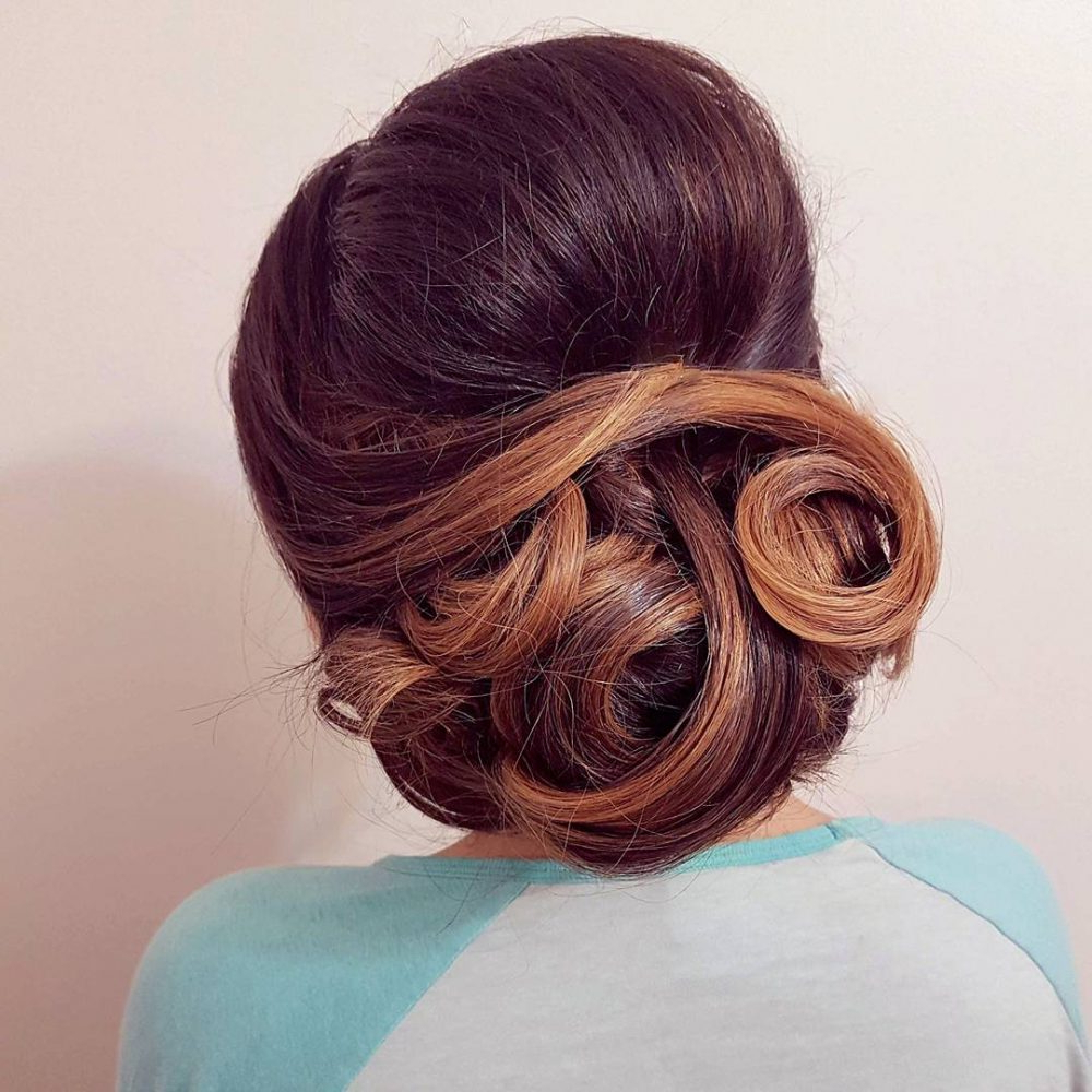 34 Cutest Prom Updos For 2019 – Easy Updo Hairstyles With Most Recent Lifted Curls Updo Hairstyles For Weddings (Gallery 7 of 20)