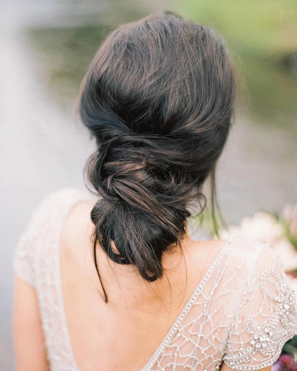 34 Loose Wedding Updos For Brides With Long Hair ⋆ Ruffled For Newest Messy Bridal Updo Bridal Hairstyles (View 3 of 20)