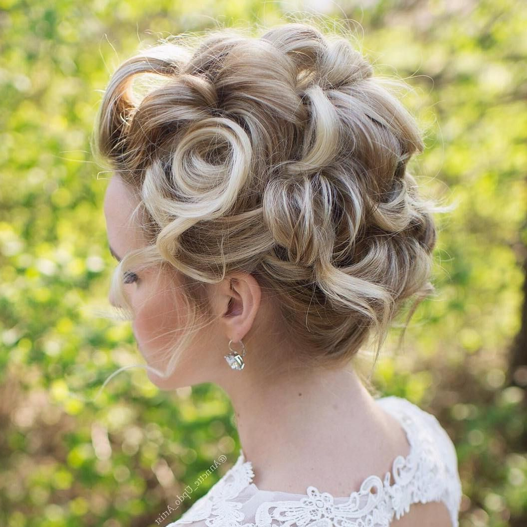 "40 Best Short Wedding Hairstyles That Make You Say ""wow Throughout Most Recent Chignon Wedding Hairstyles With Pinned Up Embellishment (View 2 of 20)"