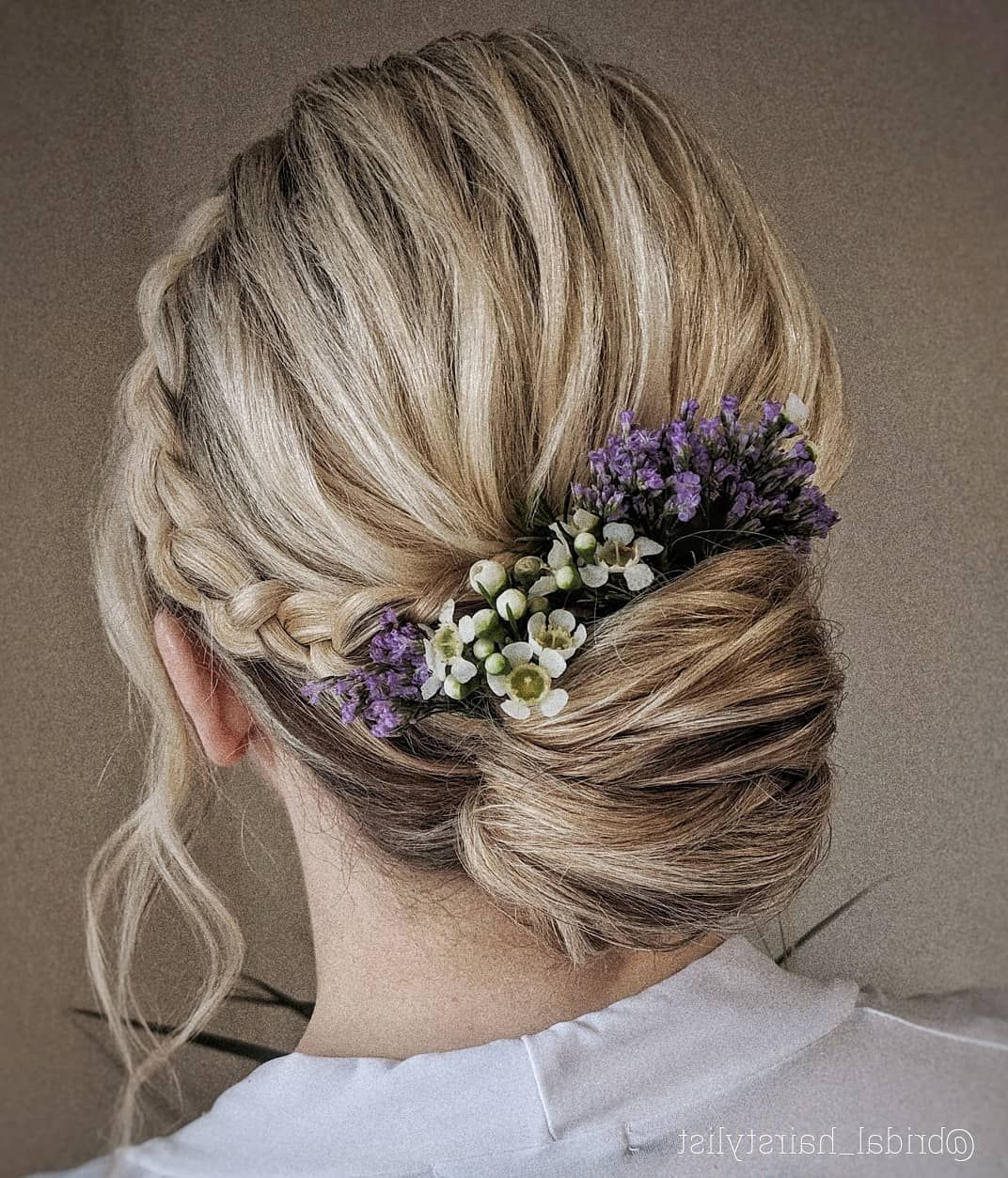 50 Most Beautiful Bridal Hair Style From Real Weddings – Page 34 Of Inside Fashionable Braided Lavender Bridal Hairstyles (View 3 of 20)