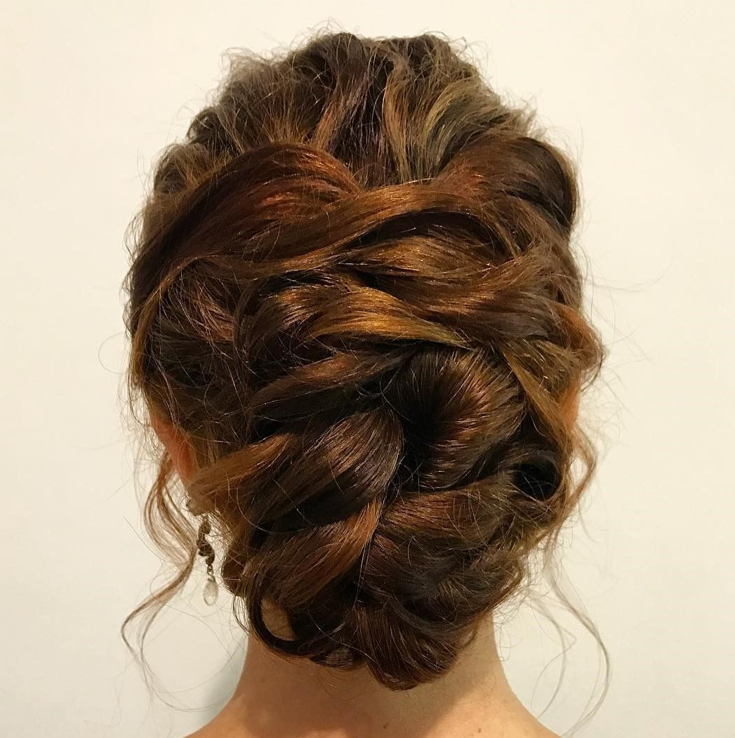 Featured Photo of Messy Woven Updo Hairstyles For Mother Of The Bride