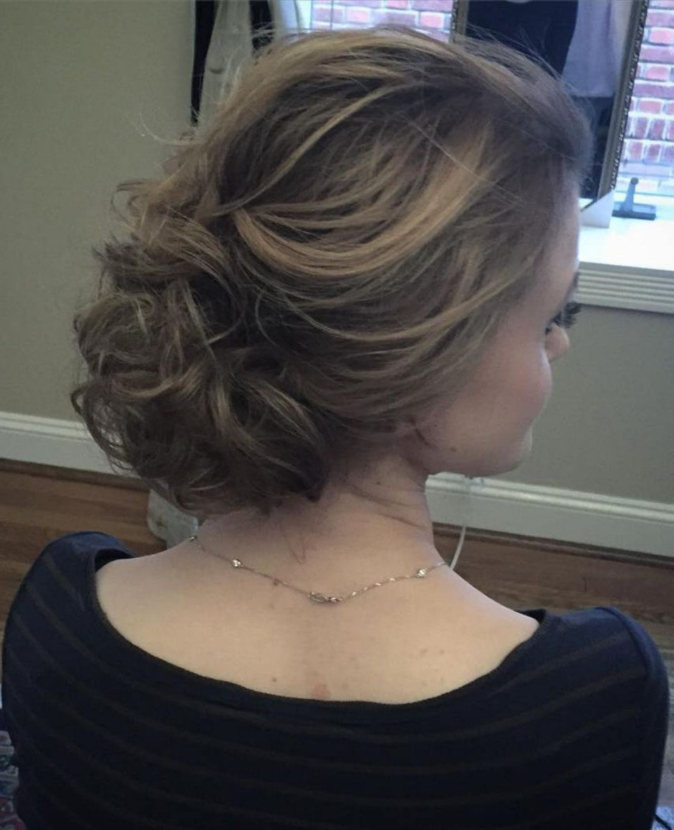 60 Updos For Thin Hair That Score Maximum Style Point In 2019 With Regard To 2018 Curly Messy Updo Wedding Hairstyles For Fine Hair (Gallery 8 of 20)