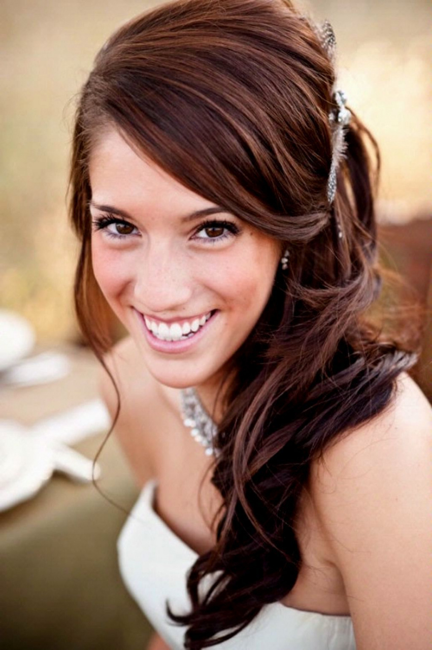 70 Wedding Hairstyles Long Hair Inspirational Curls Side Ponytail For Best And Newest Curly Ponytail Wedding Hairstyles For Long Hair (View 3 of 20)