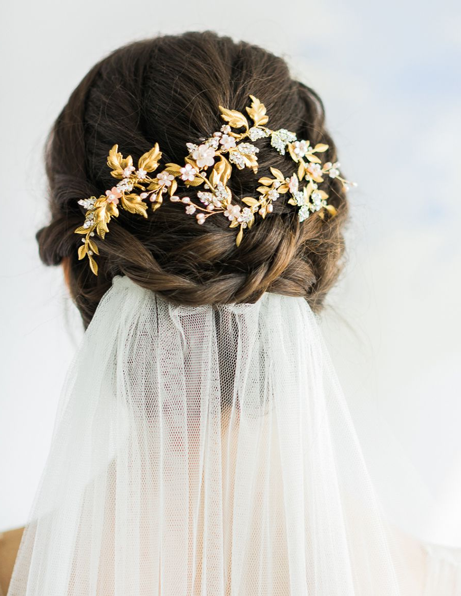 7Th Heaven: Bridal Veil Trends And Inspiration For 2016 – 2017 Intended For Trendy Bridal Chignon Hairstyles With Headband And Veil (Gallery 15 of 20)