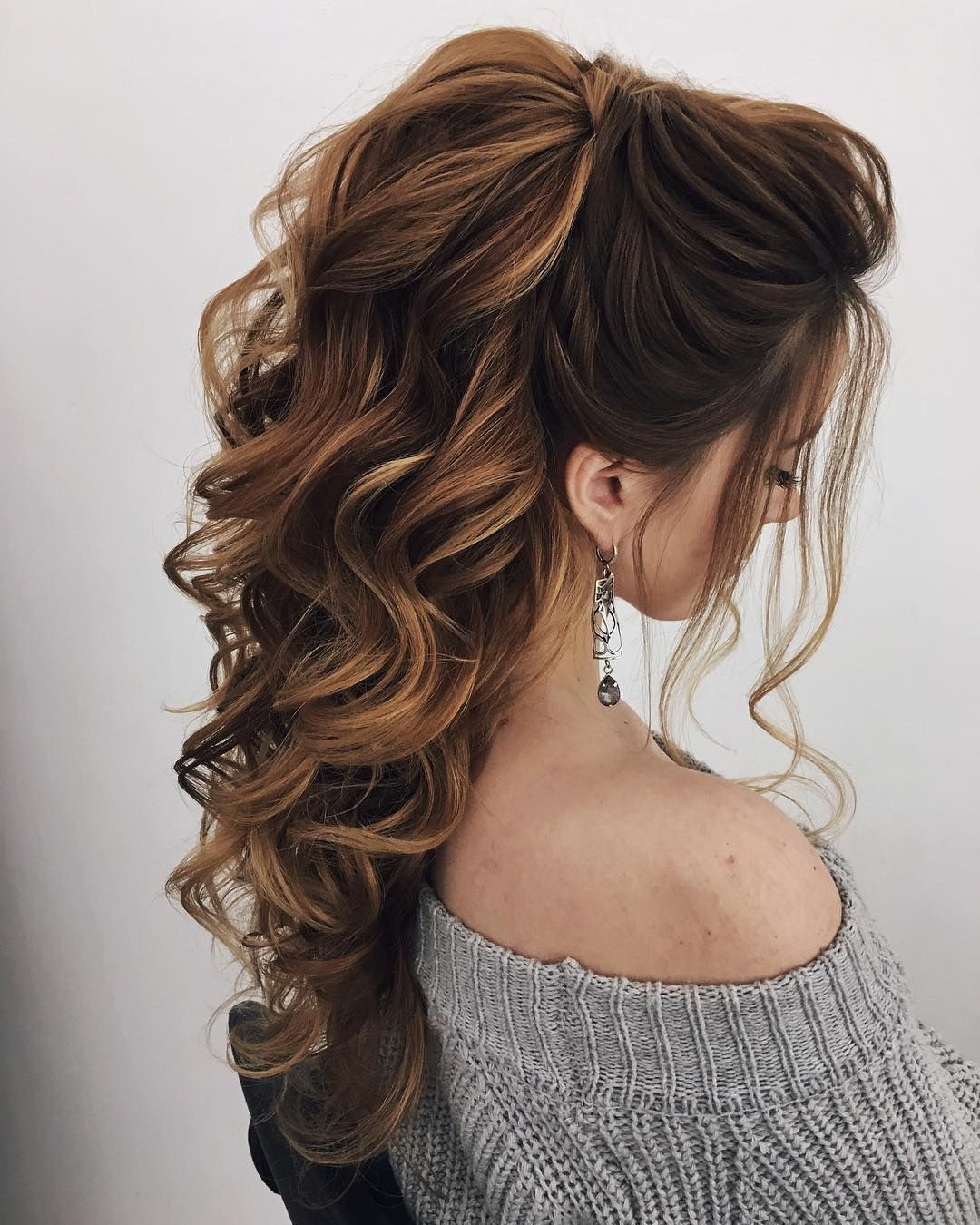 87 Fabulous Wedding Hairstyles For Every Wedding Dress Neckline Pertaining To 2017 Fabulous Cascade Of Loose Curls Bridal Hairstyles (View 12 of 20)