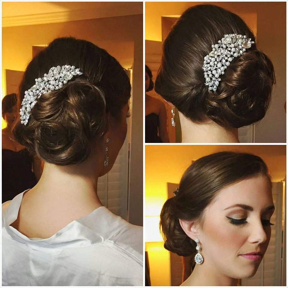 A Beautiful Modern Twist On A Soft Classic Bridal Updo / Upstyle For Pertaining To Most Popular Embellished Twisted Bun For Brides (View 4 of 20)