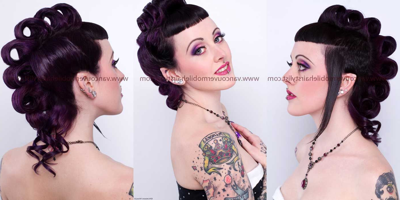 Alternative Wedding Style Pin Up Hair And Makeup (View 5 of 20)