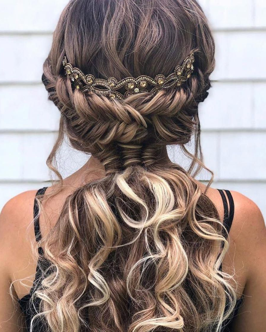 Beautiful Boho Fishtail & Infinity Braid Pony@alexandralee1016 Within Most Recently Released Infinity Wedding Updos (View 3 of 20)