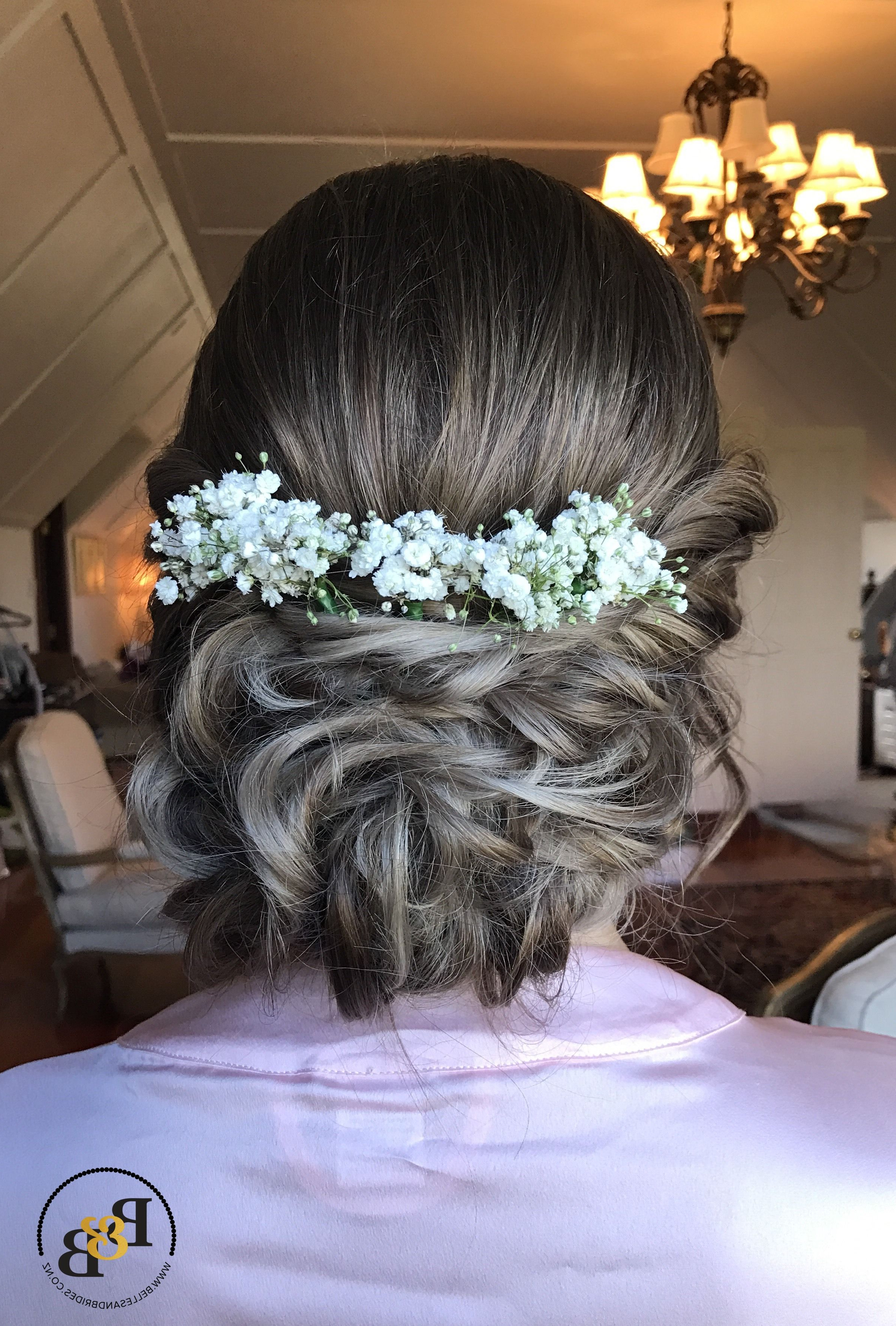 Beautiful Soft Wedding Updo With Baby's Breath / Bridal Updo With Inside Popular Woven Updos With Tendrils For Wedding (View 8 of 20)