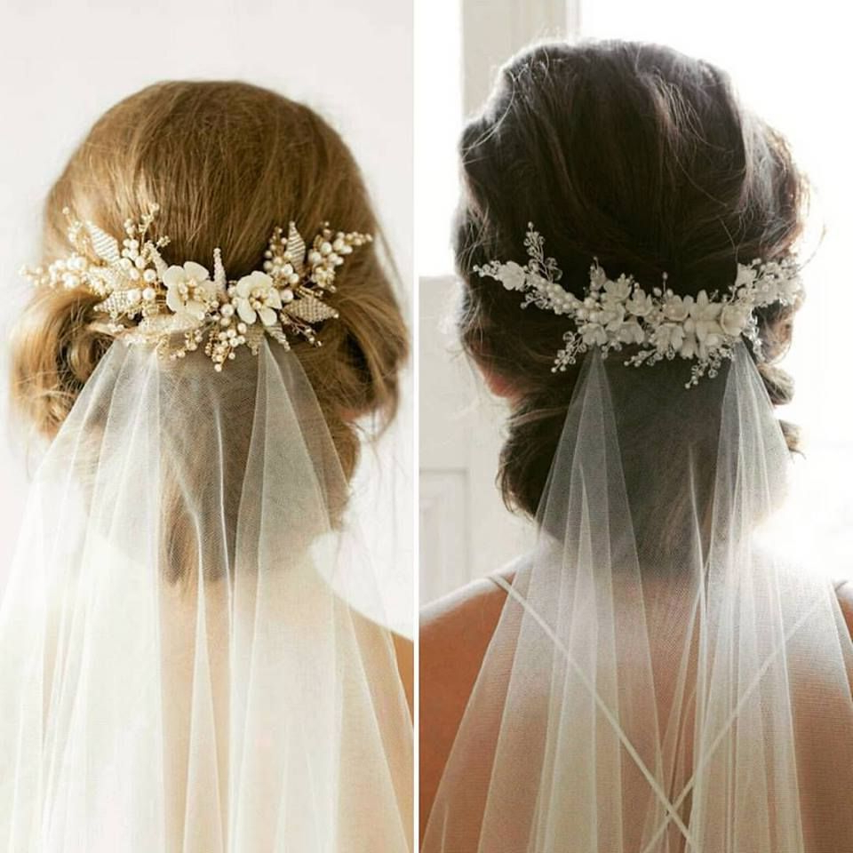 Best And Newest Bridal Chignon Hairstyles With Headband And Veil Intended For 63 Perfect Hairdo Ideas For A Flawless Wedding Hairstyle With Veil (View 5 of 20)