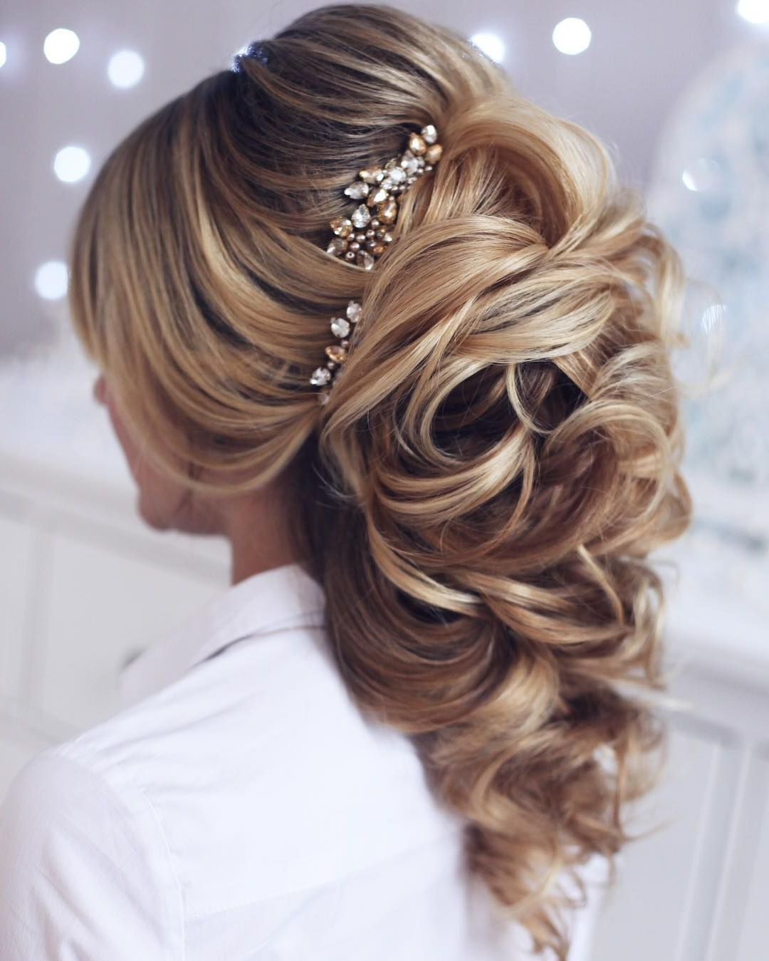 Best And Newest Curly Ponytail Wedding Hairstyles For Long Hair For 10 Lavish Wedding Hairstyles For Long Hair – Wedding Hairstyle Ideas (View 4 of 20)