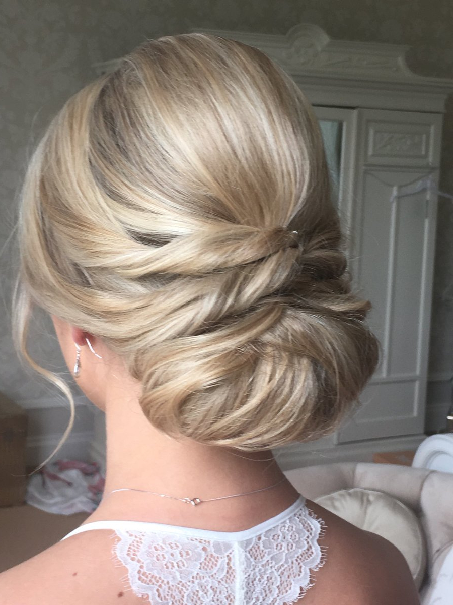 "Best And Newest Embellished Twisted Bun For Brides Within Lahairofyarm On Twitter: ""lovely Twisted Bun I Did For A Gorgeous (View 5 of 20)"