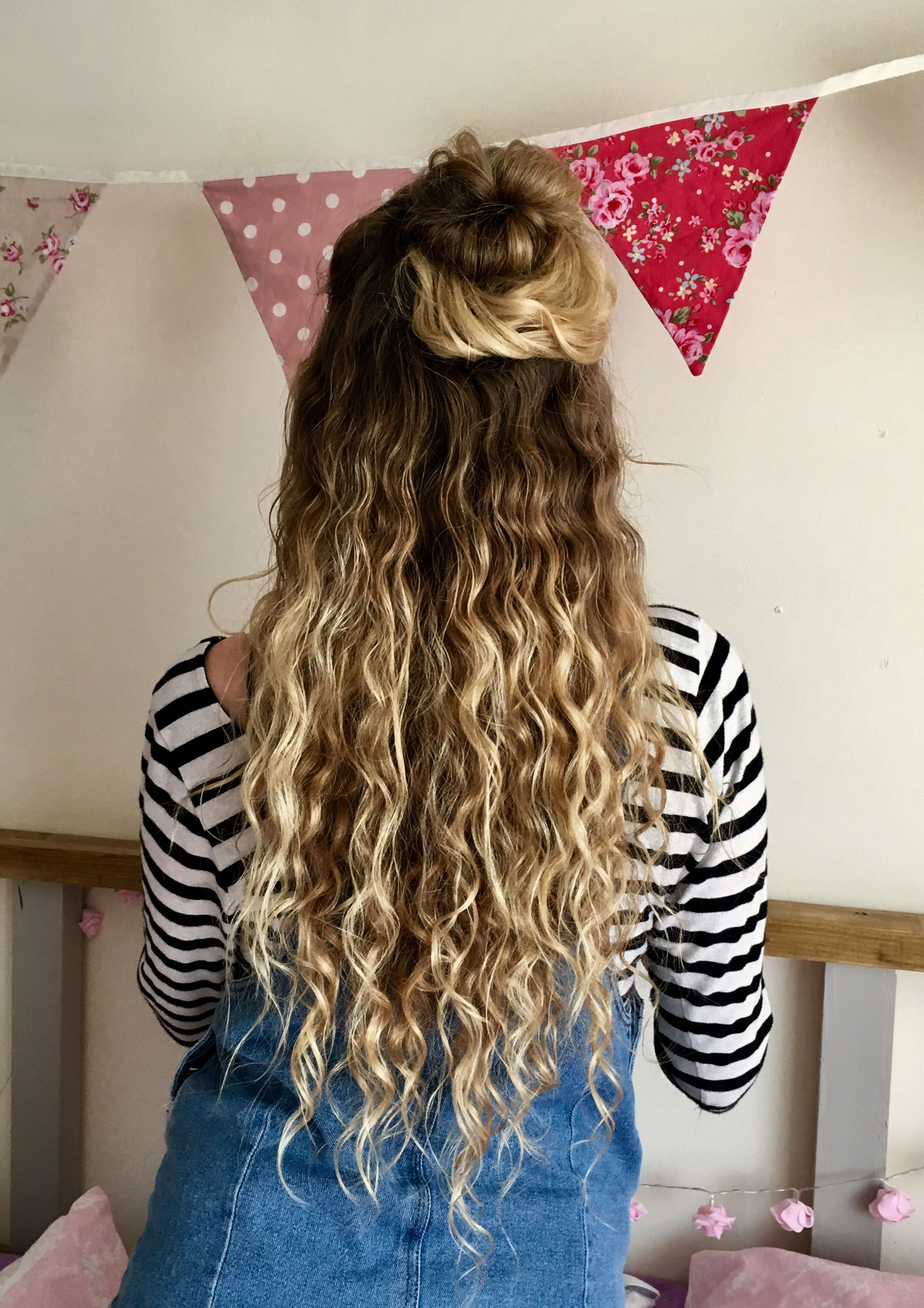 Best And Newest Half Up Curly Hairstyles With Highlights Intended For I Did It My Hair Is Finally How I Want It :) Natural Curly Hair (View 11 of 20)