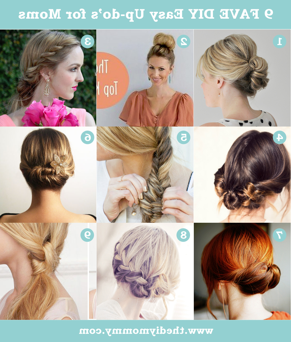 Best And Newest Simple And Cute Wedding Hairstyles For Long Hair With Regard To 9 Favourite Easy Updos For Moms (View 10 of 20)
