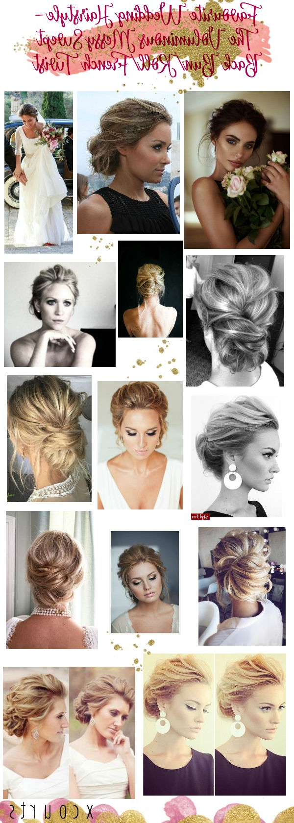 Best And Newest Voluminous Chignon Wedding Hairstyles With Twists For Favourite Wedding/bridal Hairstyle – The Voluminous Messy Swept Back (View 7 of 20)