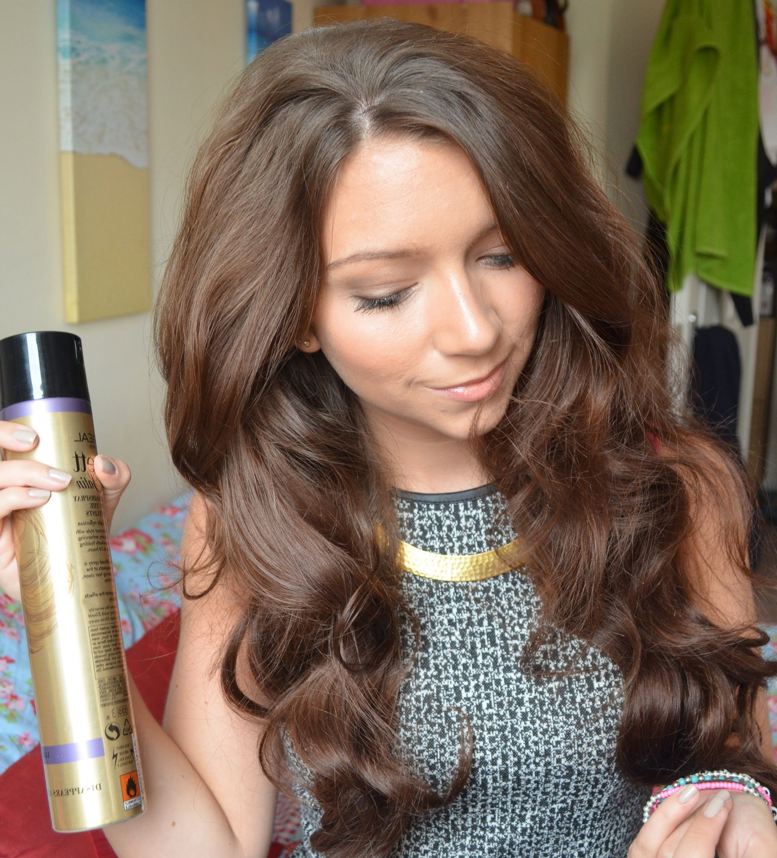 Big Wavy Hair Tutorial – Definitely Getting Some Hot Rollers Pertaining To Widely Used Large Hair Rollers Bridal Hairstyles (View 9 of 20)