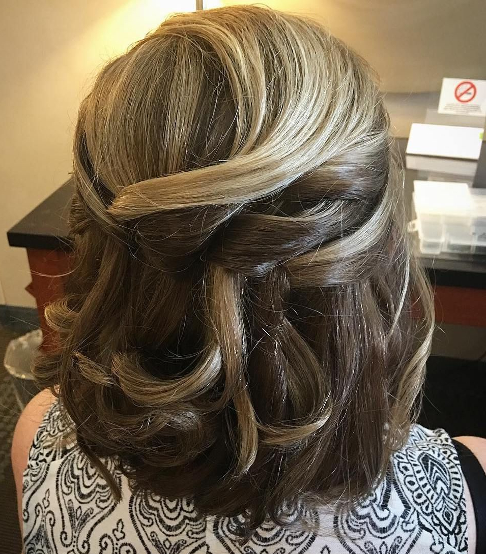 Bob Hairstyle, Bobs In Current Twist, Curl And Tuck Hairstyles For Mother Of The Bride (View 4 of 20)