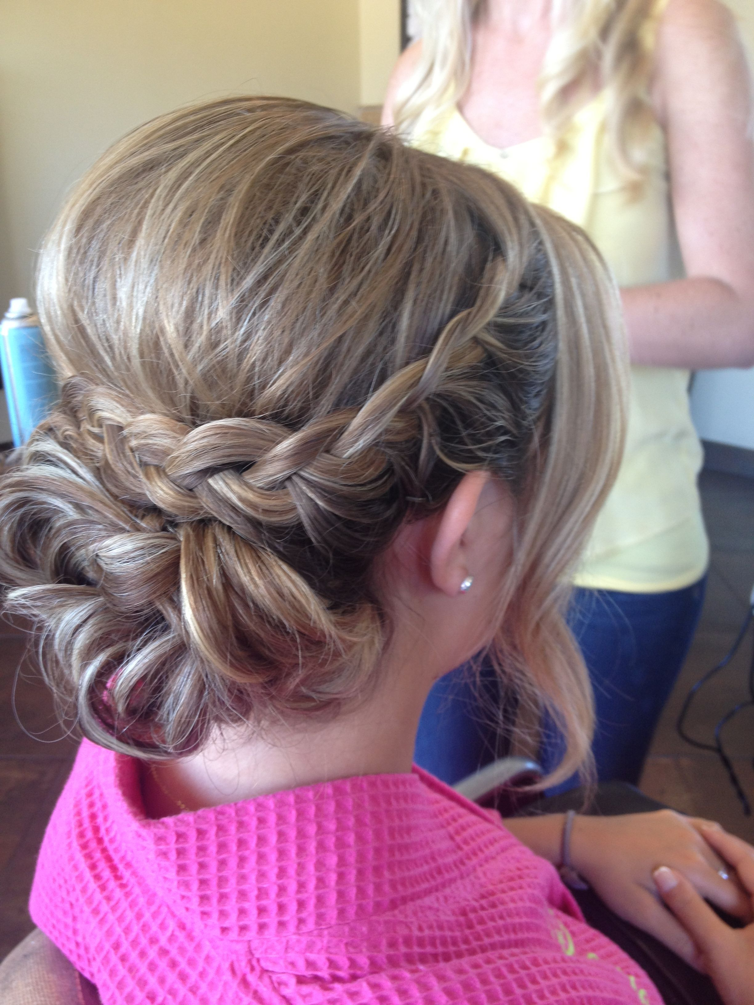 Braided Updo With A Bump! Definitely Not The Whisp Around The Face Inside Current Bumped Twist Half Updo Bridal Hairstyles (View 8 of 20)