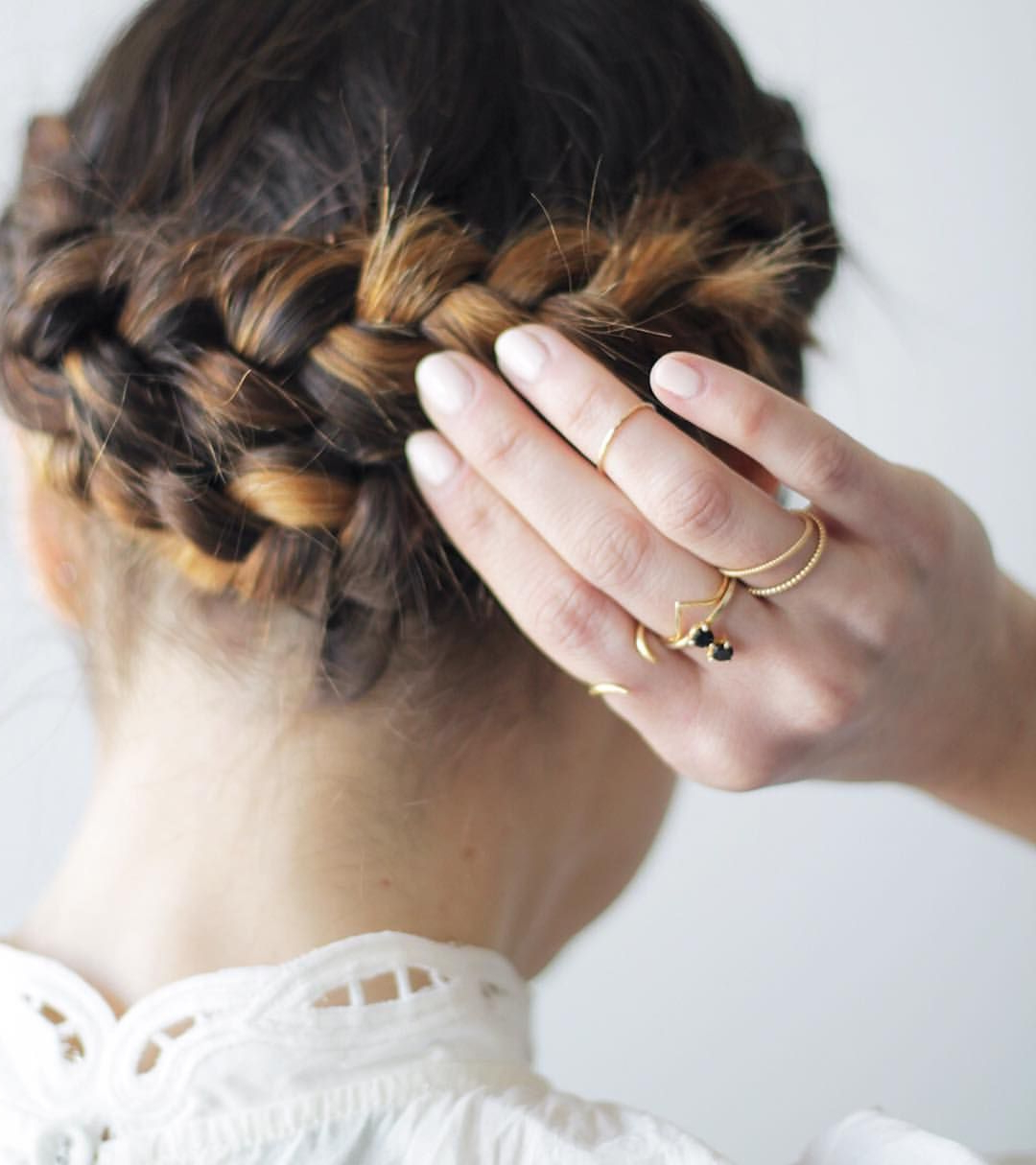 Braided Updo With Highlights (View 7 of 20)