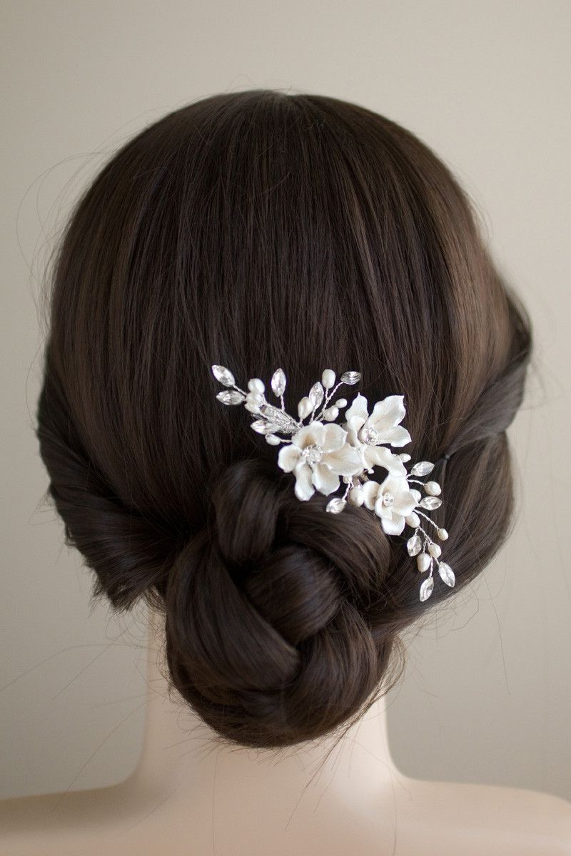 Bridal Hair Flowers (View 4 of 20)