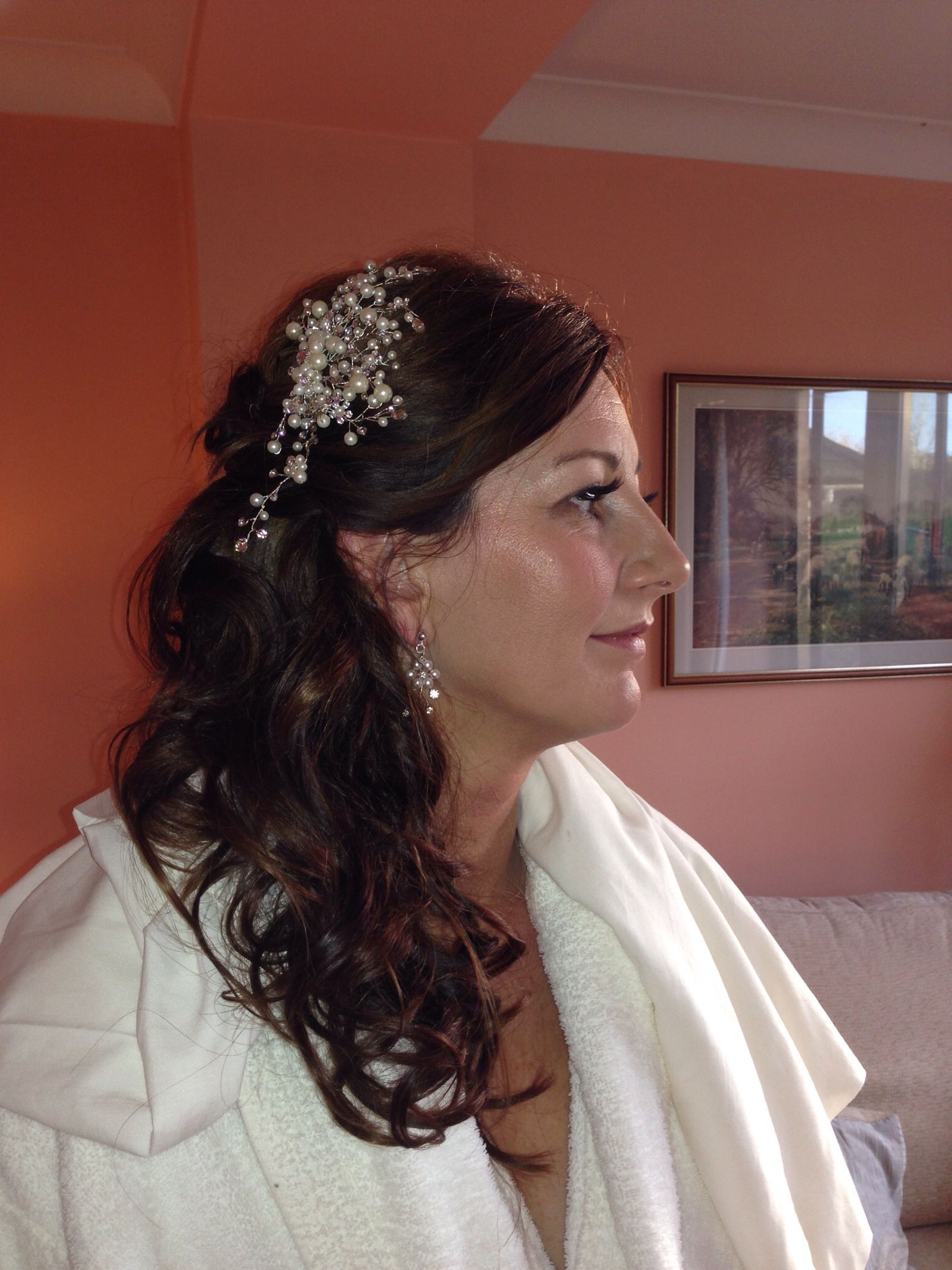 Bridal Hairclaire With Latest Curls Clipped To The Side Bridal Hairstyles (View 1 of 20)