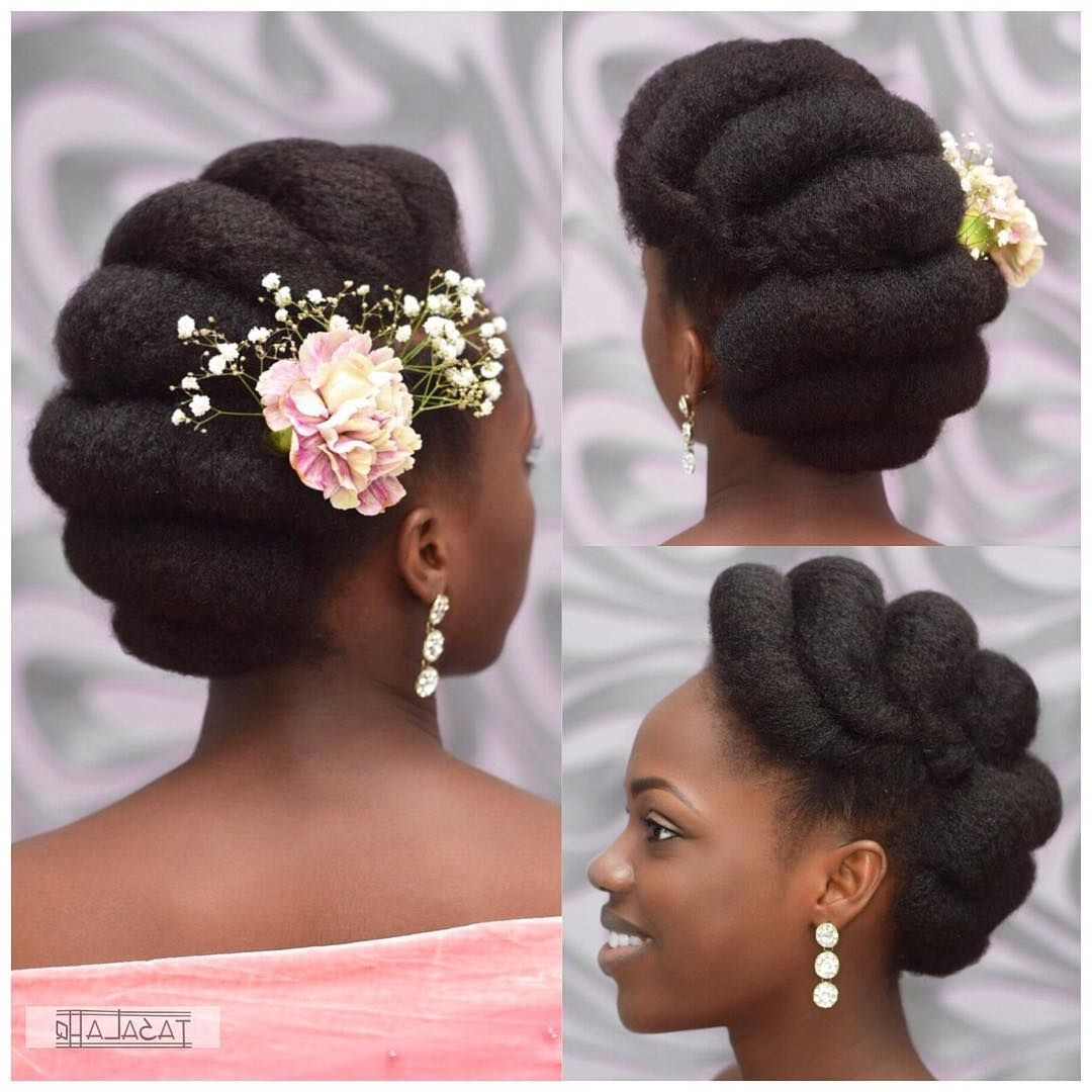 Bridal Hairstyles: 41 Wedding Hairstyles For Black Women – Click042 With Widely Used Classic Bridal Hairstyles With Veil And Tiara (View 14 of 20)