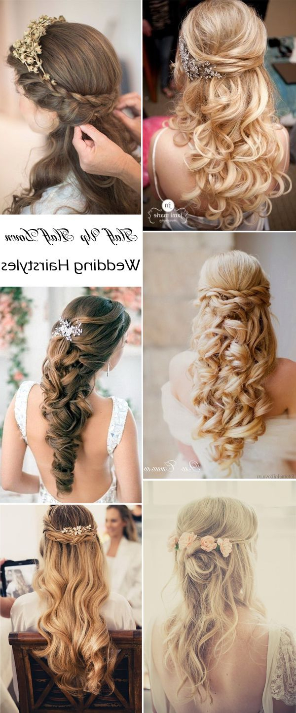 Bridal Hairstyles Intended For Popular Wedding Semi Updo Bridal Hairstyles With Braid (View 13 of 20)