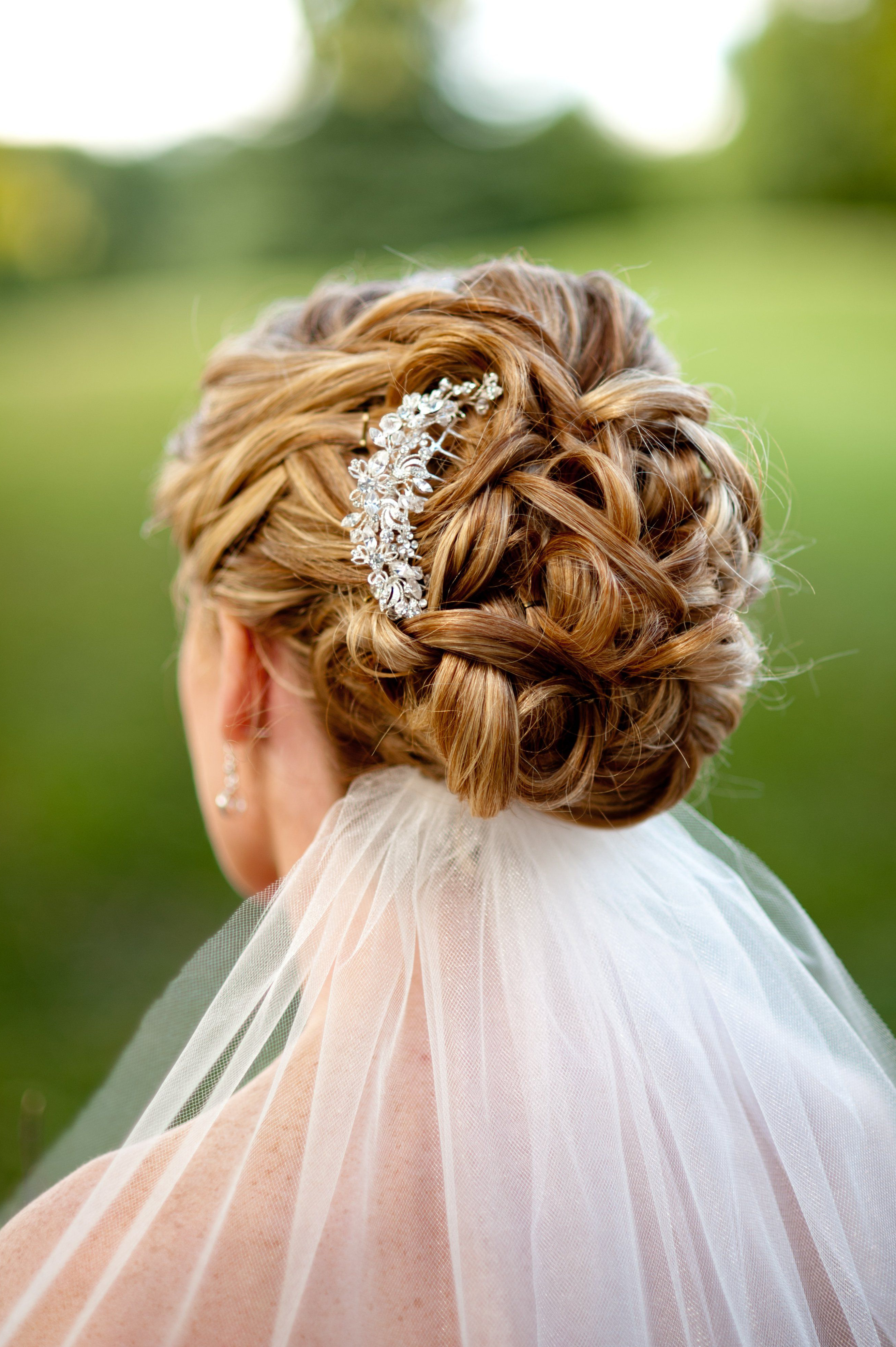 Bridal Updo With Jeweled Comb (View 5 of 20)