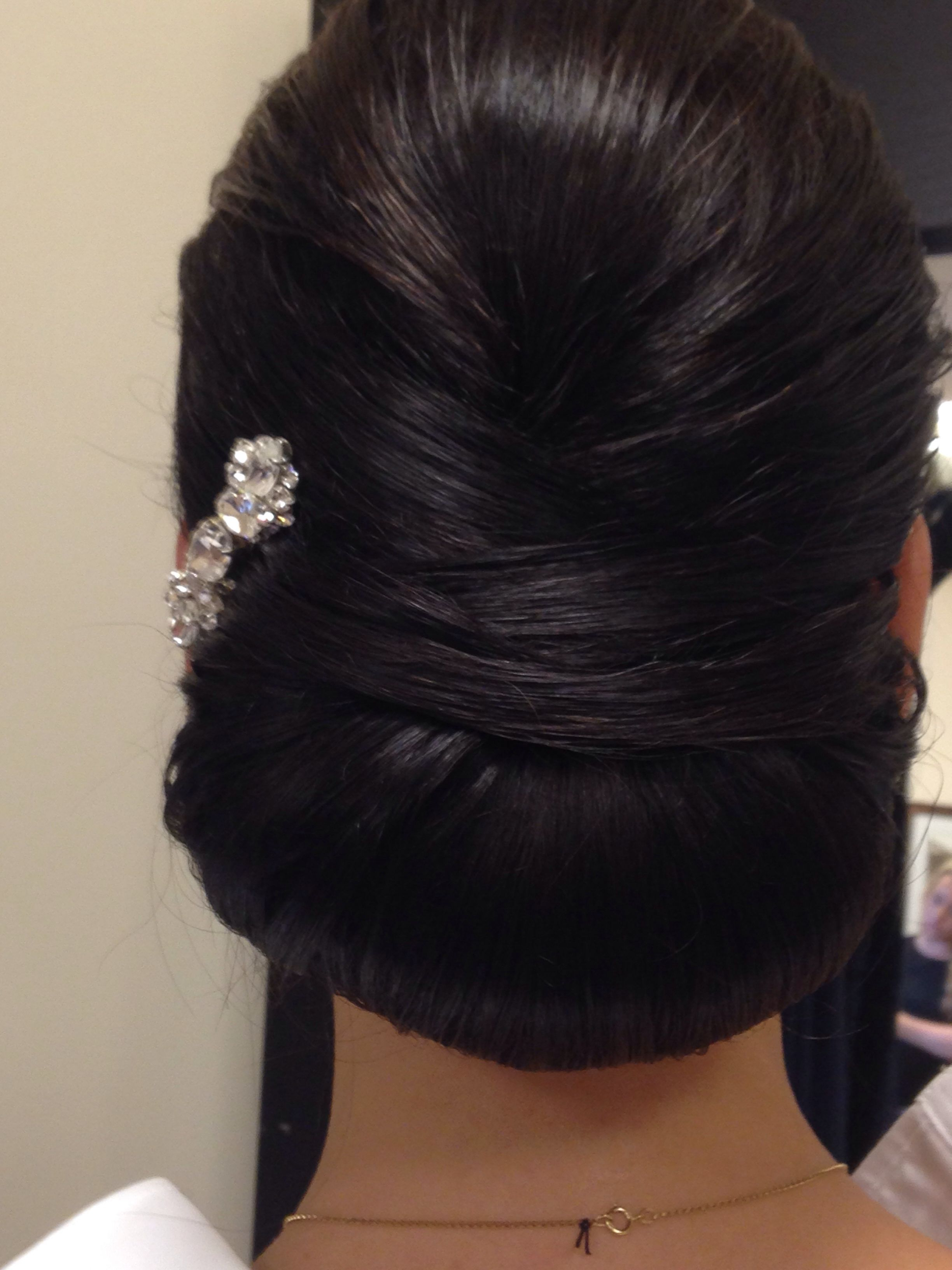 Bride Updo Smooth Sophisticated Low Bun Criss Cross (View 12 of 20)