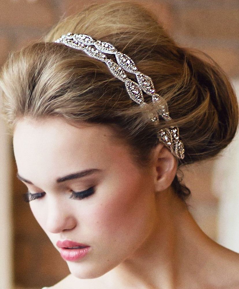Bride's Loose Updo Bun Bridal Hair Ideas Toni Kami Wedding For Current High Updos With Jeweled Headband For Brides (View 6 of 20)