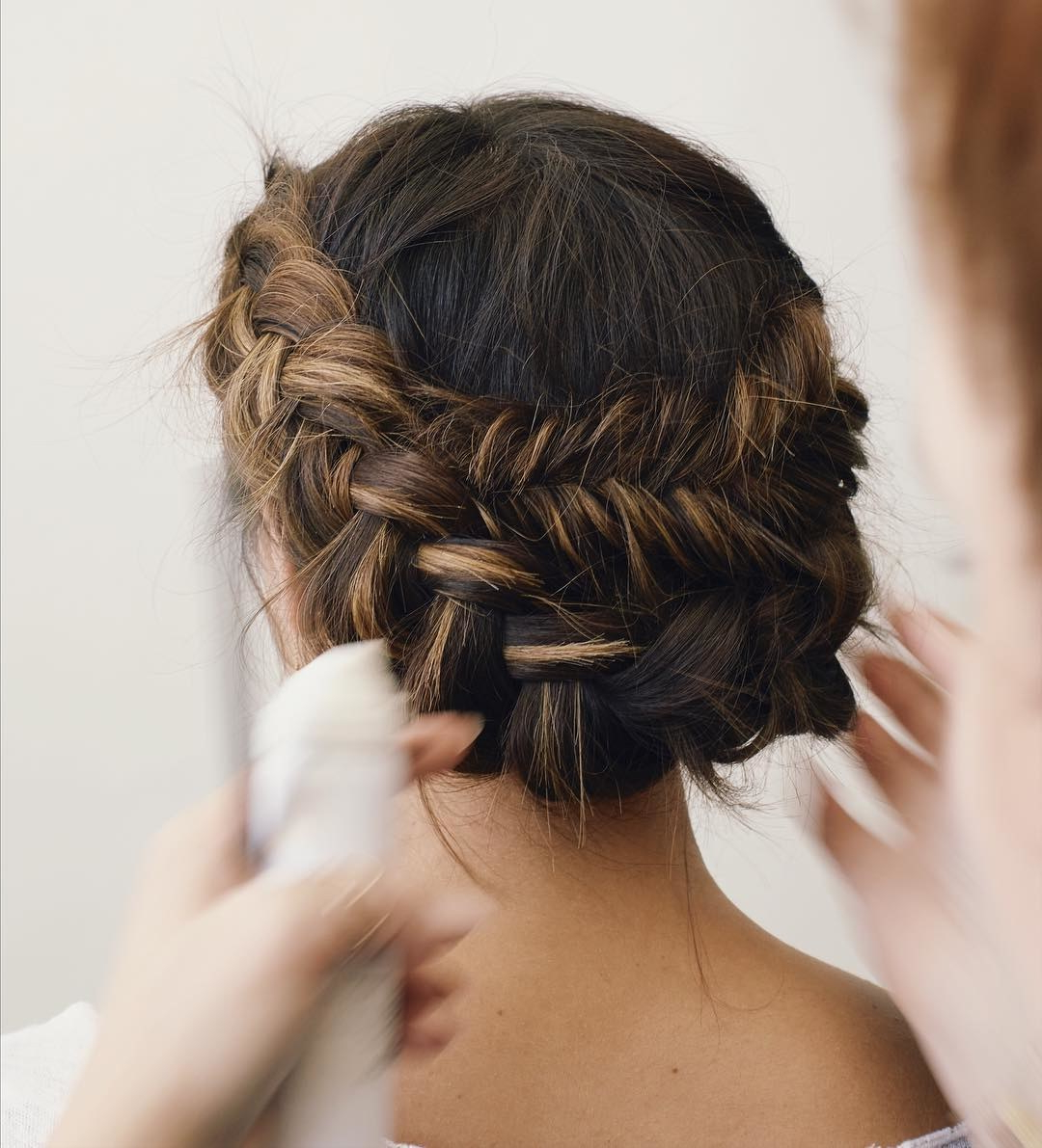 Brides Throughout Current Double Braid Bridal Hairstyles With Fresh Flowers (View 3 of 20)
