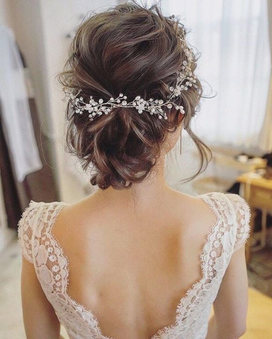 Classic Flower Crown. Simple And Elegant Hairstyle (View 10 of 20)