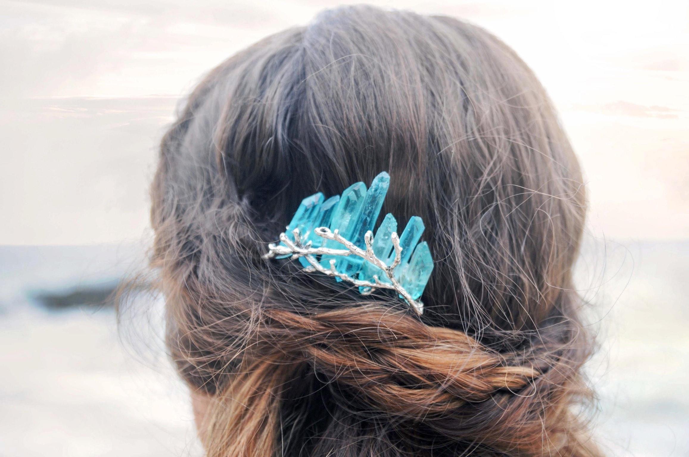 Crystal Hair Comb Bridesmaid Hair Comb Boho Hair Pin Hair (View 17 of 20)